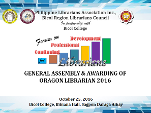 PLAI-Bicol Region Librarians Council